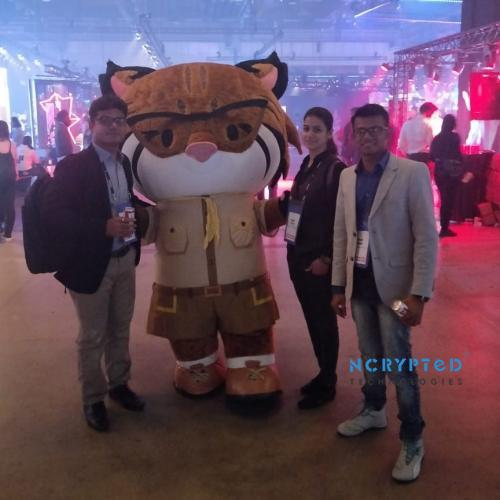 Where else do you Find a mascot at a Event If not in Slush at Helsinki?