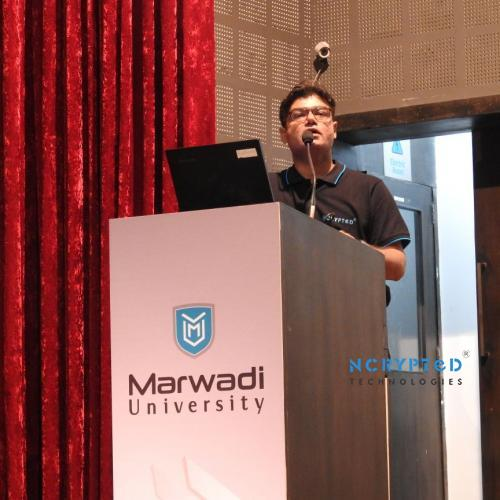 Mr. Parth Chhatrala, Presenting Business Development Definition Across Students of All Departments