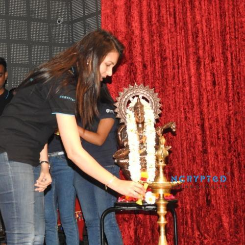 Session Began with the Lighting of the Lamp Ceremony by Mrs. Purvi Pandya, CTO at NCrypted