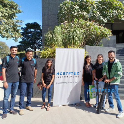 Team Posed for a Group Photo Before the Session began at Marwadi University