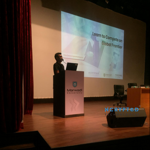 Mr. Kunal Pandya, CEO at NCrypted Sharing His Experience to Help Students after Graduation