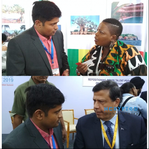 Team Engaging with Business Owners and Delegates at Vibrant Gujarat 2019