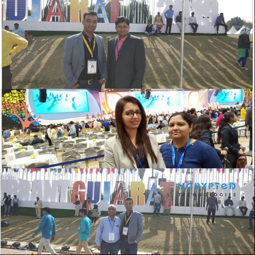 Our Vibrant Team at Vibrant Gujarat Global Summit 2019 on the Last Day of Vibrant Gujarat 2019