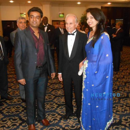 Jose E Prieto flanked by Kunal and Purvi Pandya of NCrypted