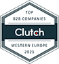 Top B2B Company Western Europe 2021 – Clutch